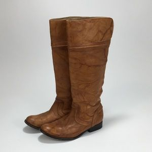 Frye Melissa Trapunto pull on riding boots 7.5 B